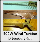 1.4 Metre Diameter 3-Blade Wind Turbine Construction